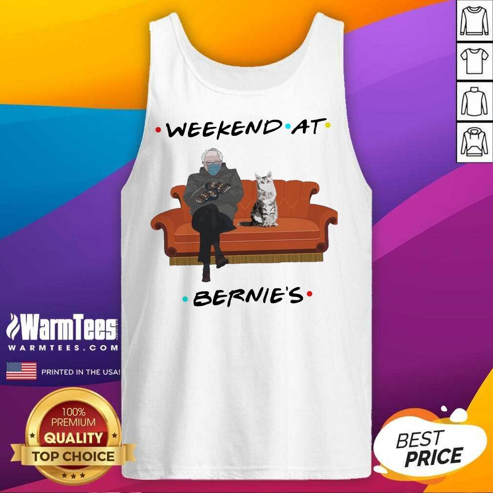 Bernie Sanders Mittens And Cat Weekend At Bernie's 2021 Tank Top