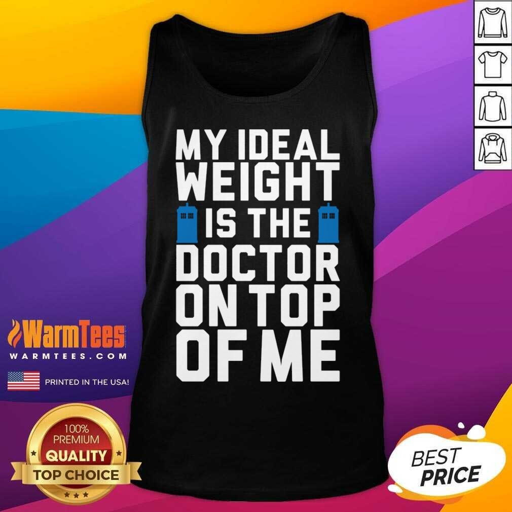 Doctor Who Ideal Weight Quote Tank Top