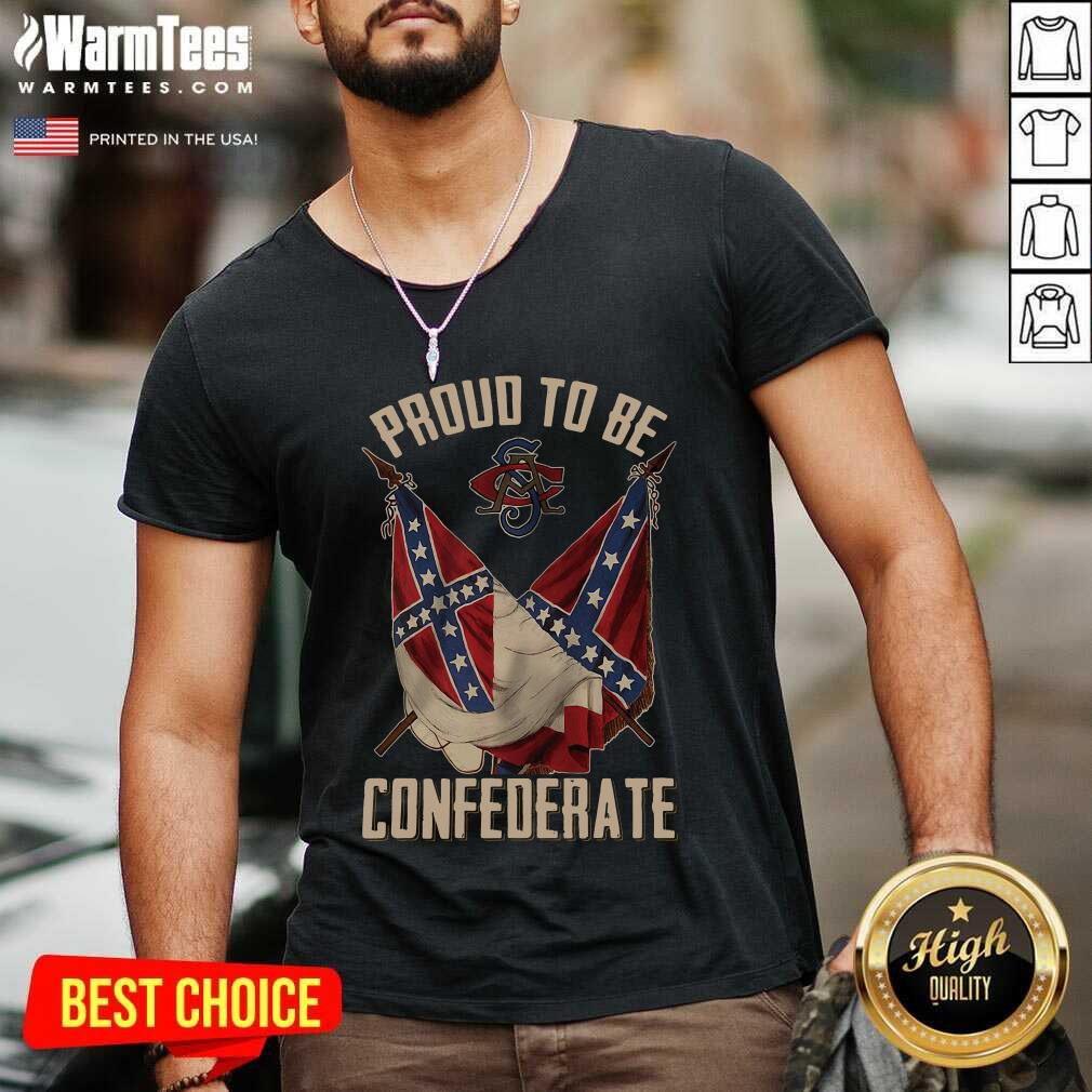 Proud To Be Confederate V-neck