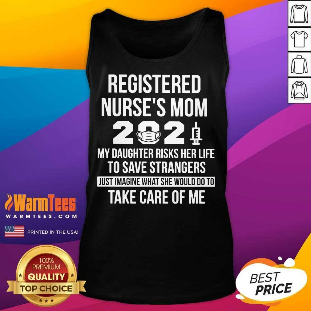 Awesome Registered Nurse Mom 2021 Care Tank Top