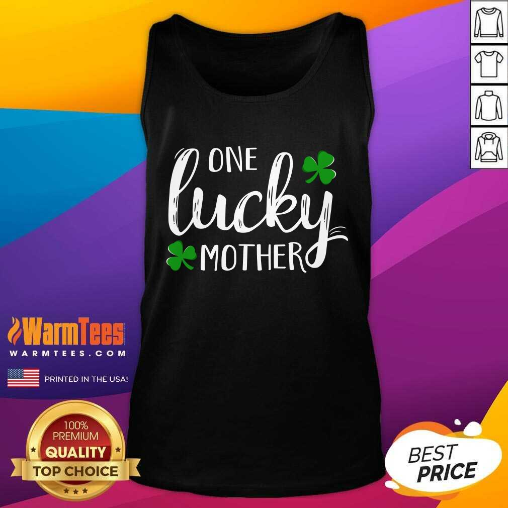 St Patricks Day One Lucky Mother Tank Top