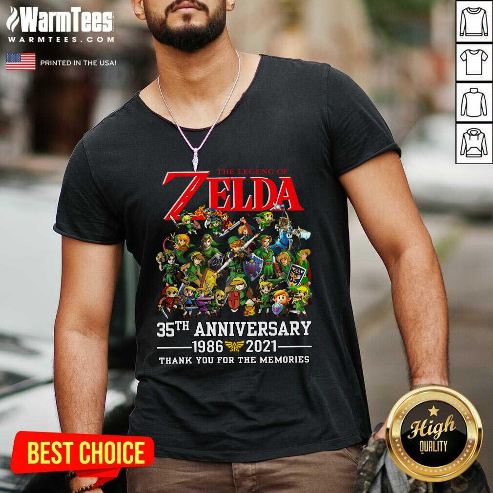 The Legend Of Zelda 35th Anniversary 1986 2021 Thank You For The Memories V-neck