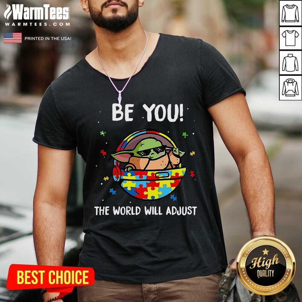 Excellent Baby Yoda Autism You World 5 V-neck