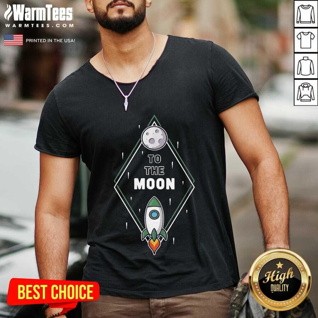 Excellent To The Moon Overjoyed 1603 V-neck