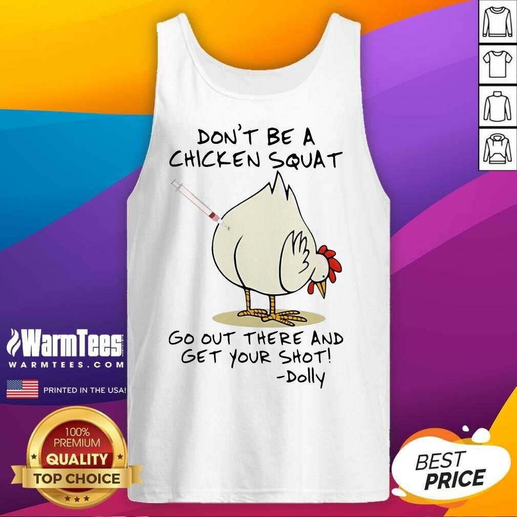 Funny Chicken Squat Go Out Dolly 2 Tank Top