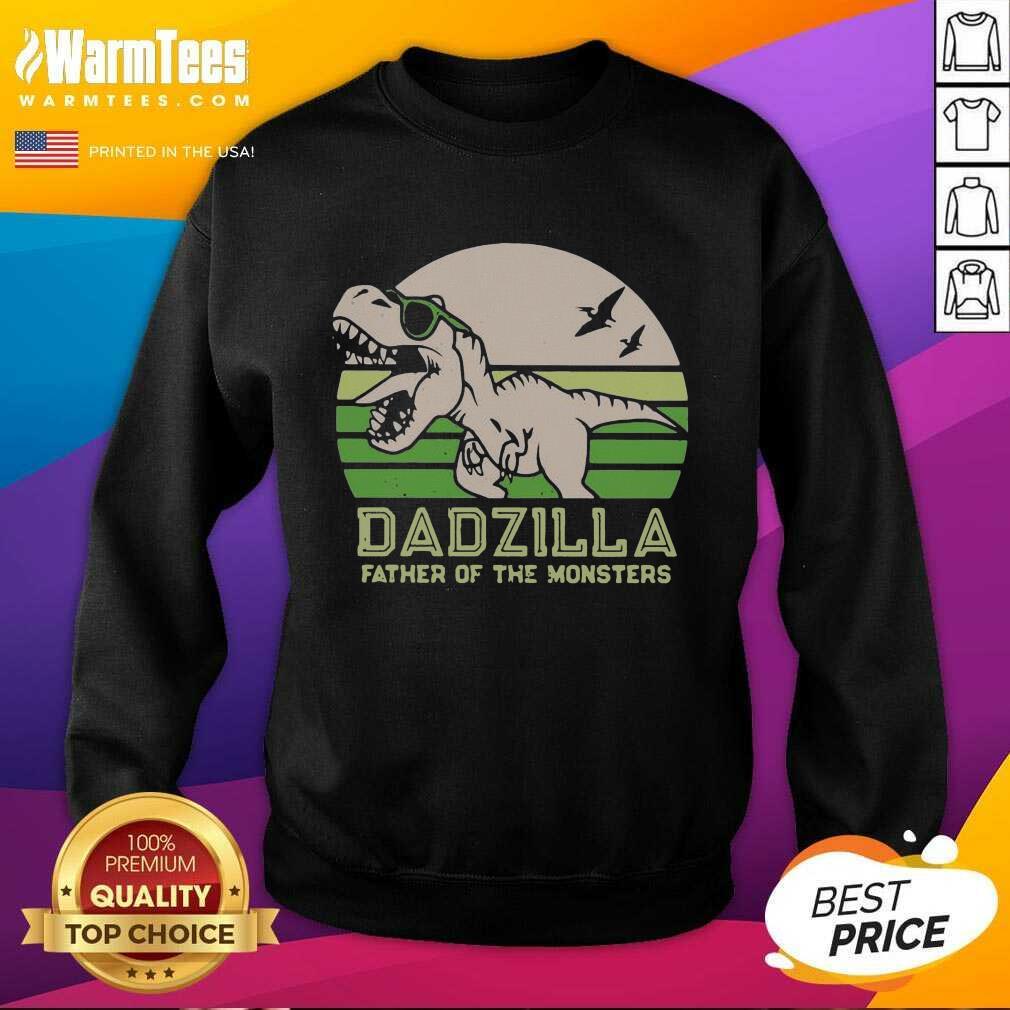Funny Dinosaurs Dadzilla Father 54 Sweatshirt