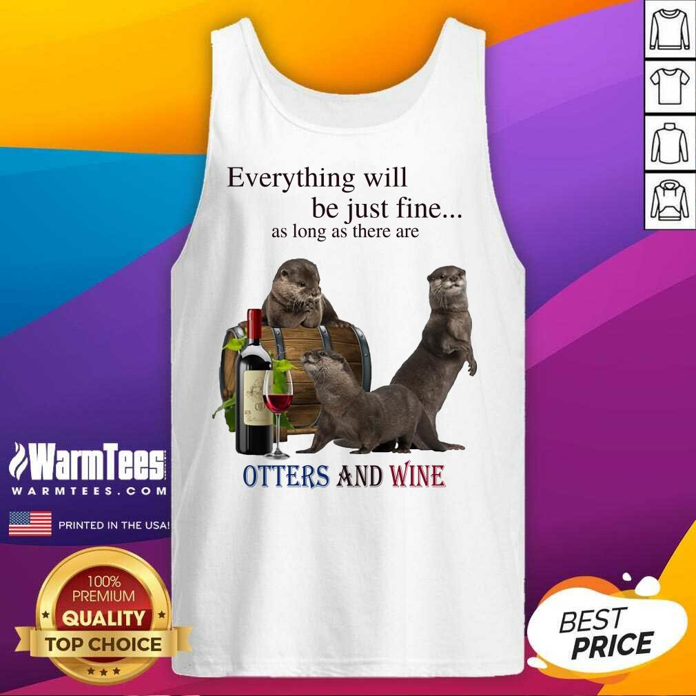 Good Everything Otters And Wine 35 Tank Top