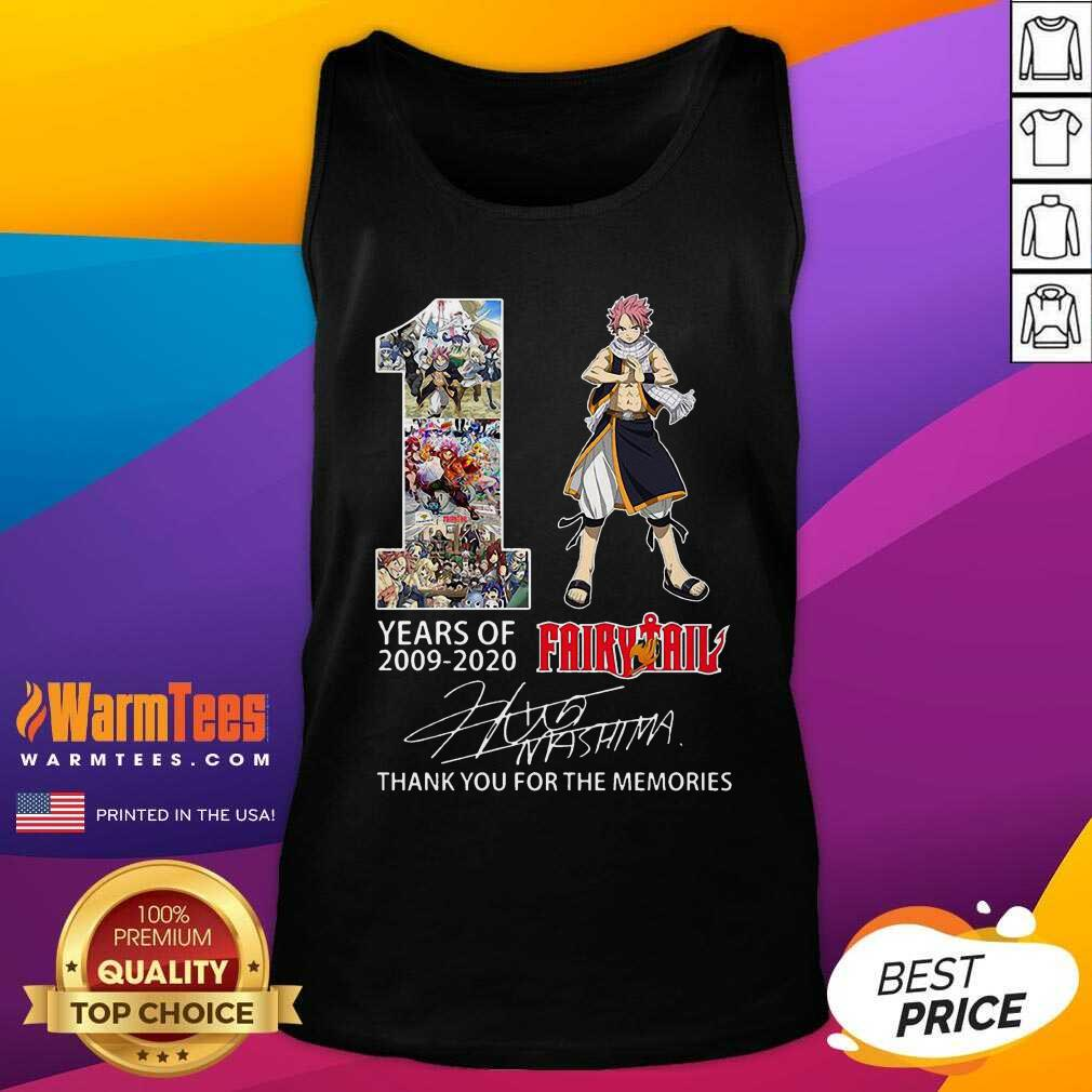 11 Years Of 2009 2021 Fairy Tail Thank You For The Memories Signature Tank Top
