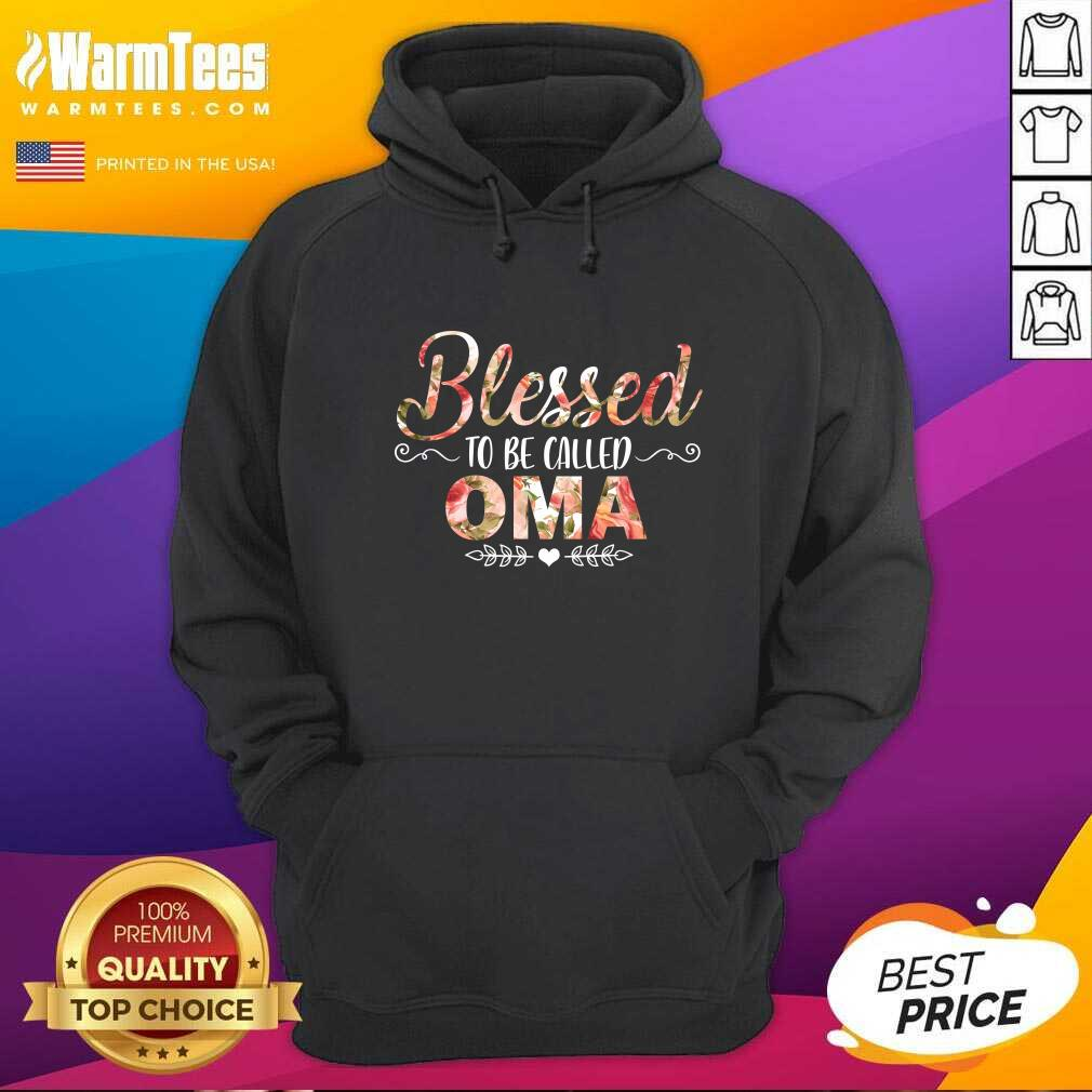 Blessed To Be Called Oma Mother Day Hoodie
