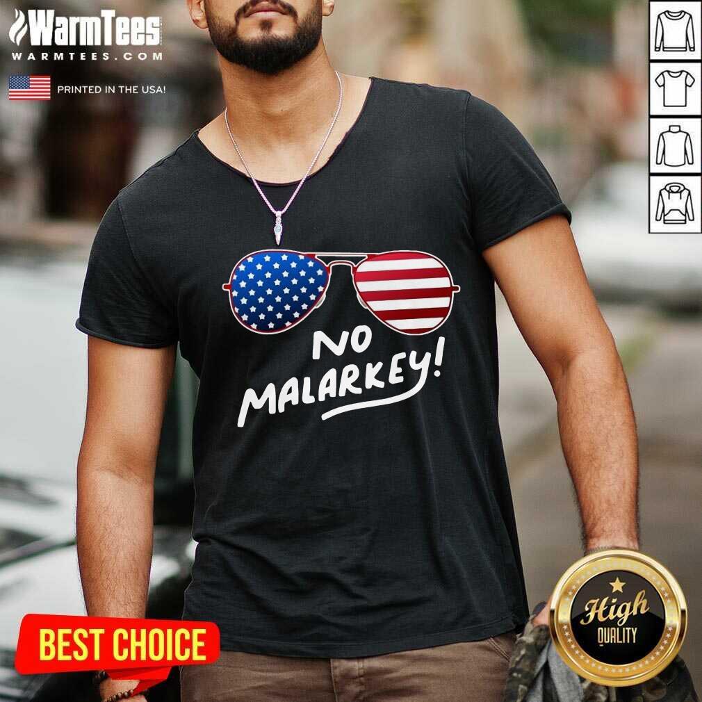 Hot Glasses American Flag No Malarkey 5 V-neck