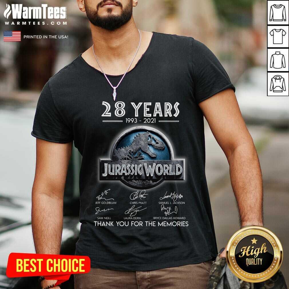 Official 28 Years Great Jurassic World V-neck