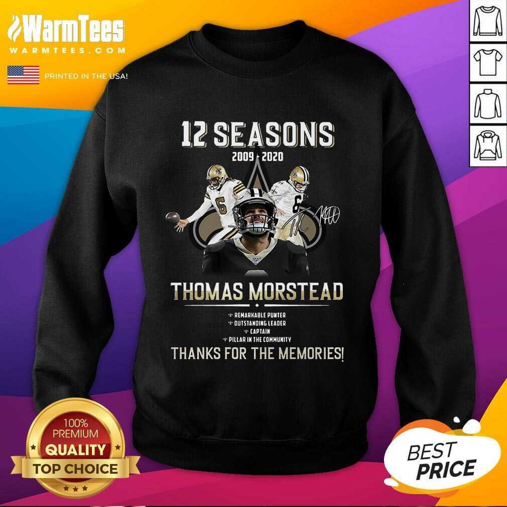 Perfect 12 Seasons 2009 Thomas Morstead Sweatshirt