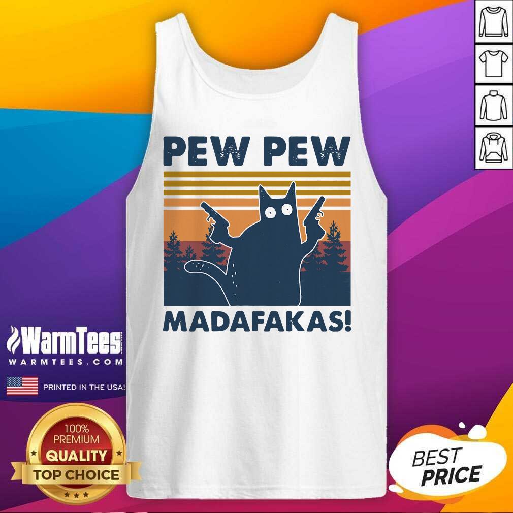 Cat Pew Pew Madafakas Vintage Tank Top