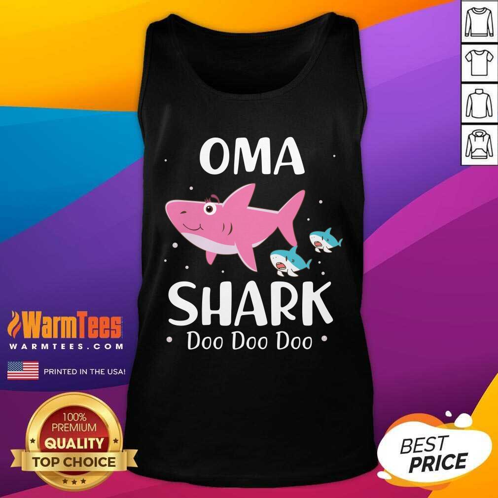 Oma Shark Doo Doo Mother Day Tank Top