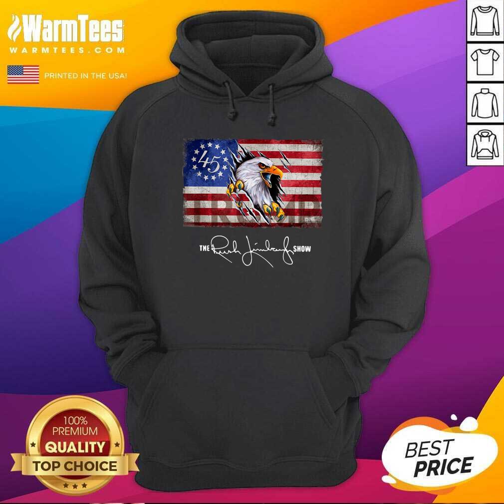 The Rush Limbaugh Show American Flag Hoodie