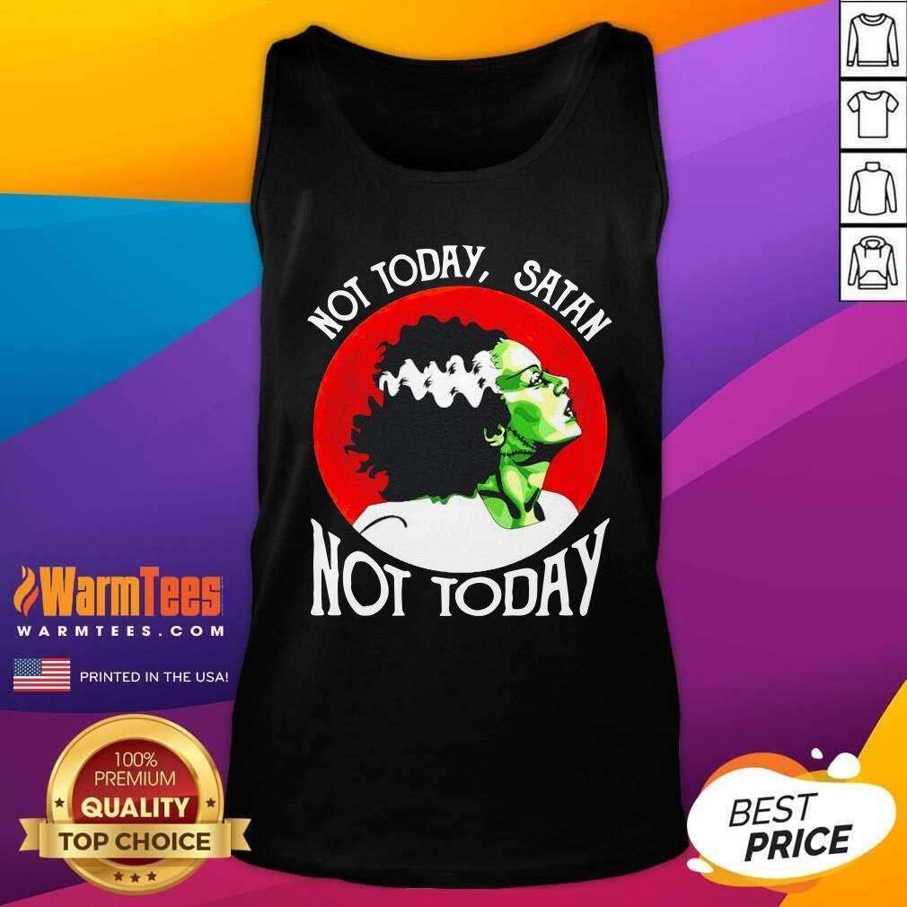 Not Today Satan Not Today Halloween Tank Top