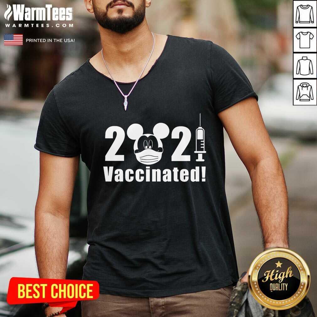 Excellent Disney Vaccinated 2021 V-neck