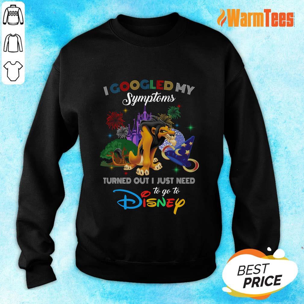 Nice Newspaper I Googled My Symptoms Disney Sweater