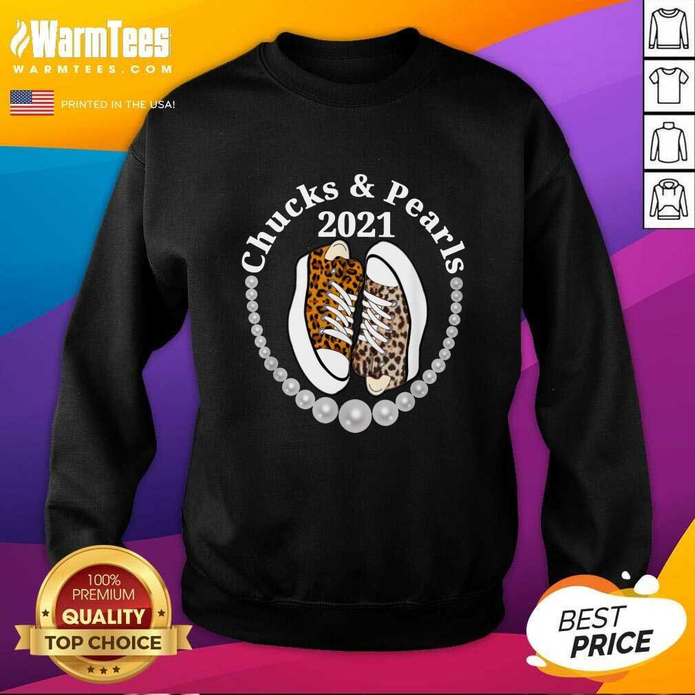 Perfect Chucks And Pearls 2021 Leopard Sweatshirt