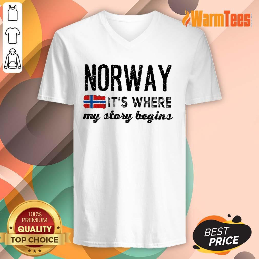 Perfect Norway It's Where My Story Begins V-Neck