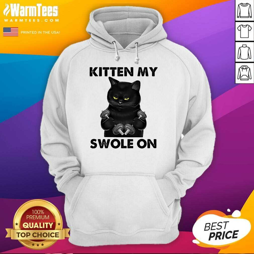 Premium Black Cat Kitten My Swole On Hoodie
