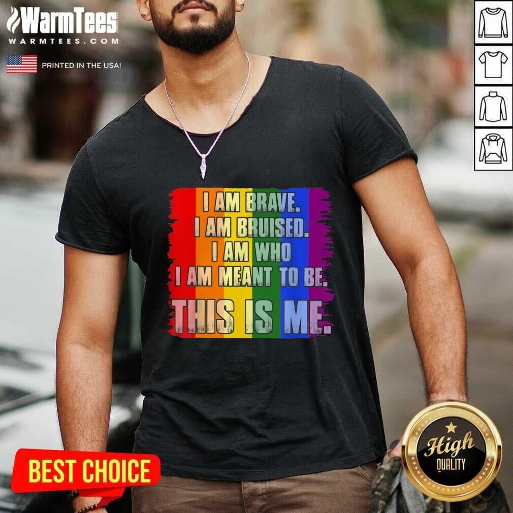 Premium This Is Me Inspirational LGBT V-neck
