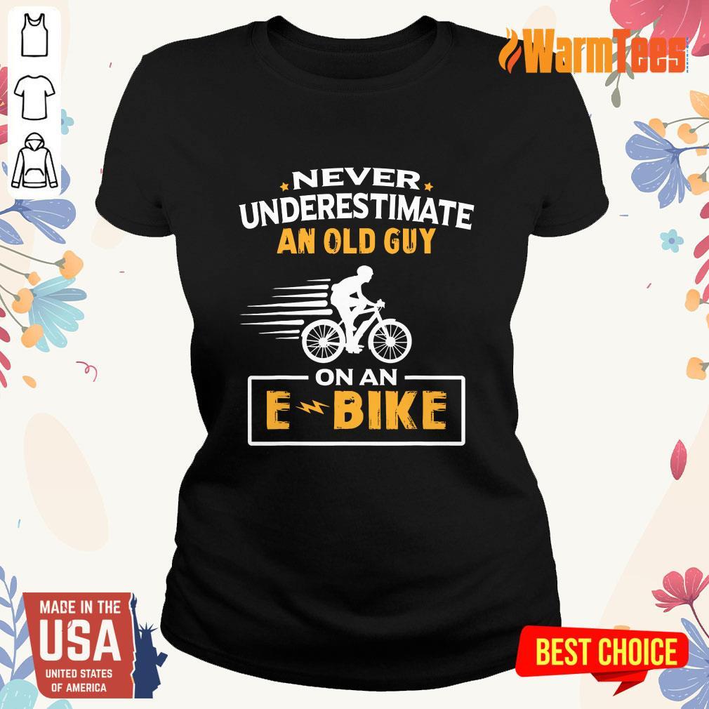 An Old Guy On An E Bike Ladies Tee