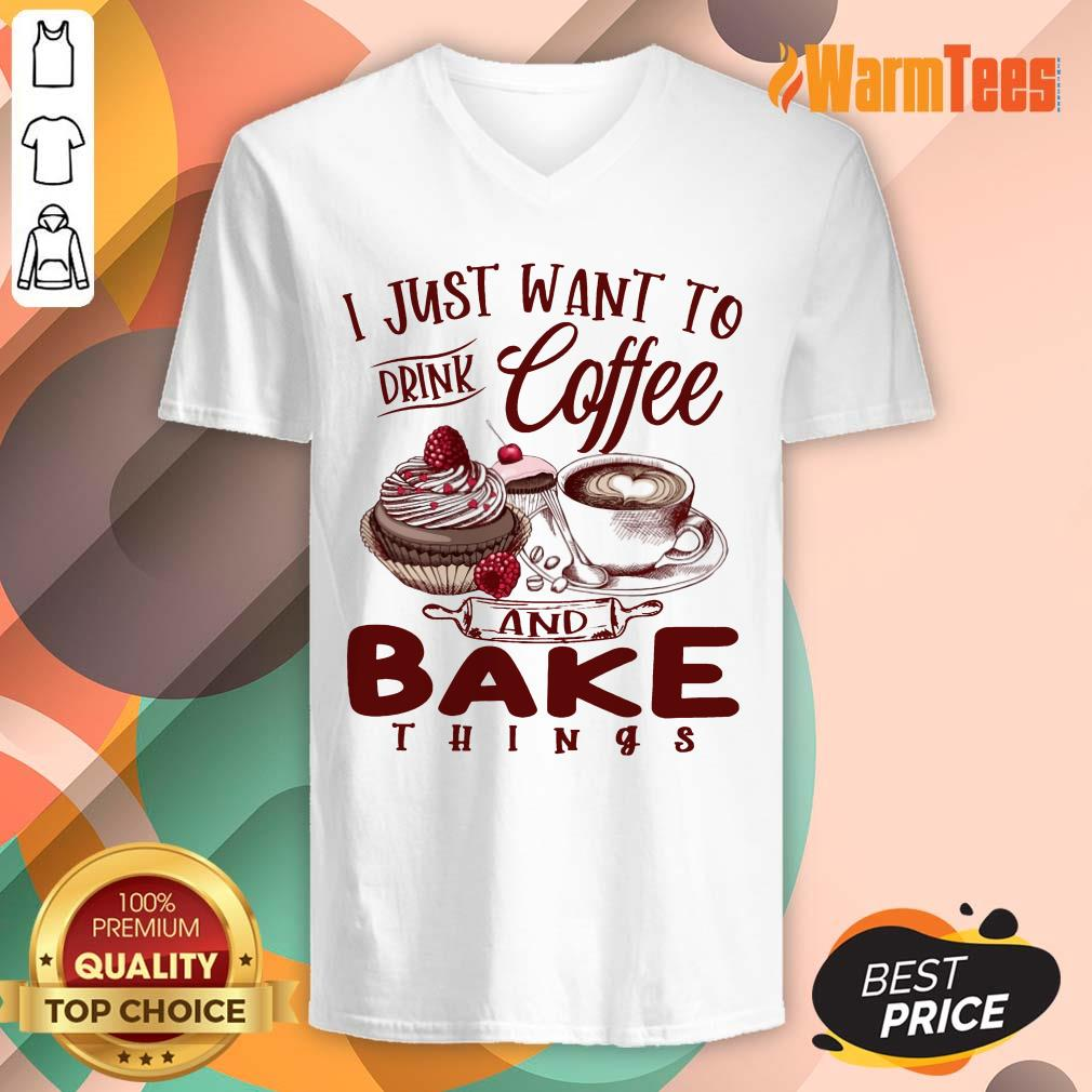 Drink Coffee And Bake Things V-neck
