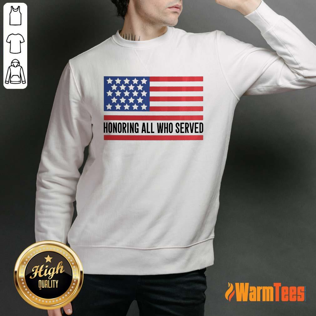 Honoring All Who Served American Flag Sweater