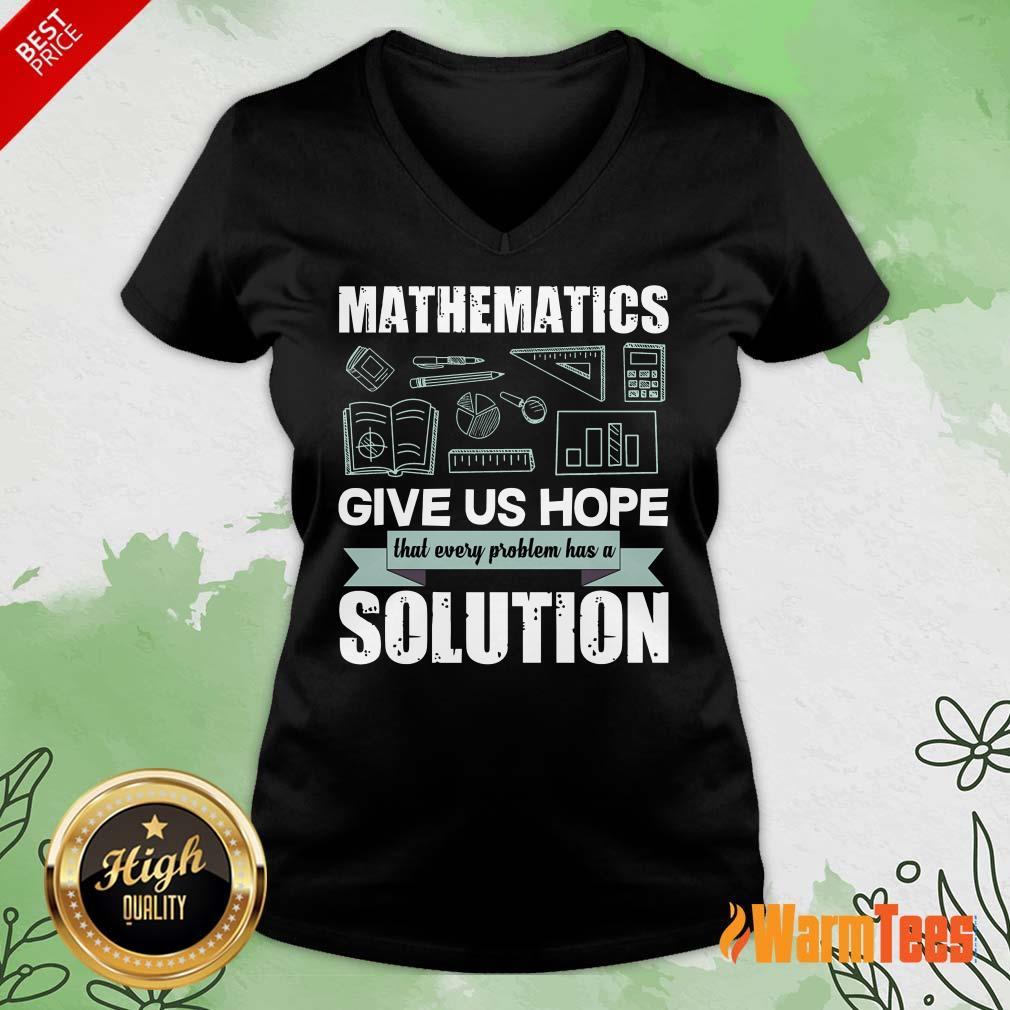 Mathematics Give Us Hope Solution V-neck