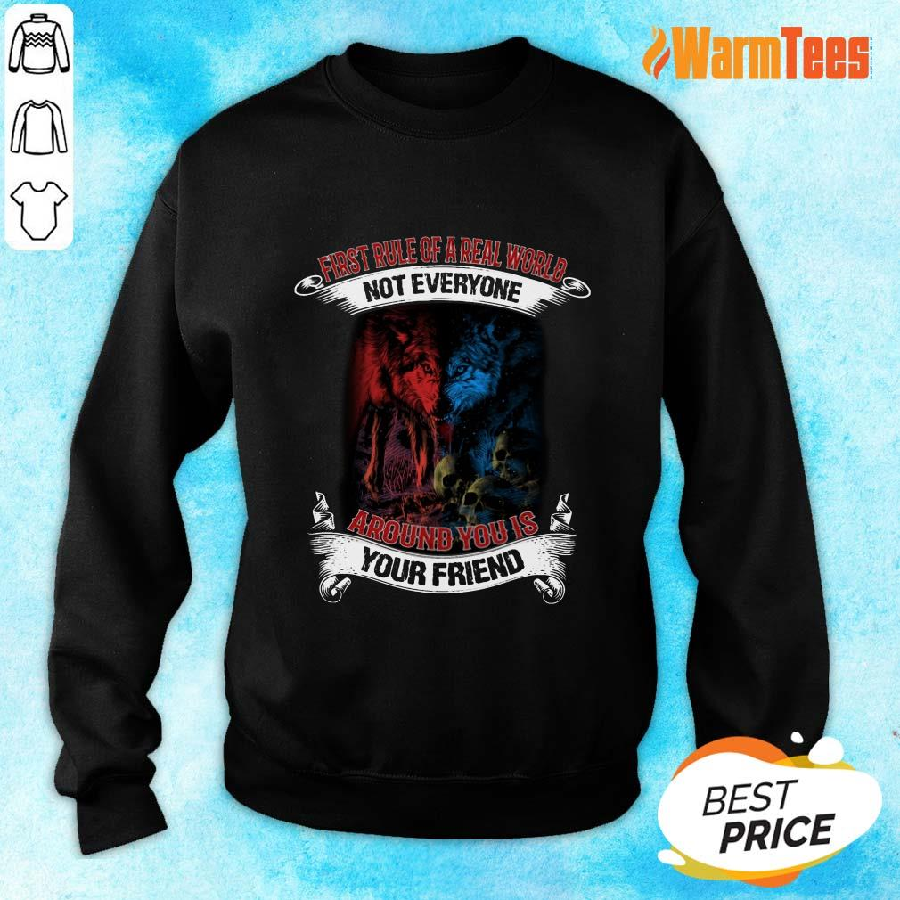 Not Everyone Your Friend Wolf Sweater
