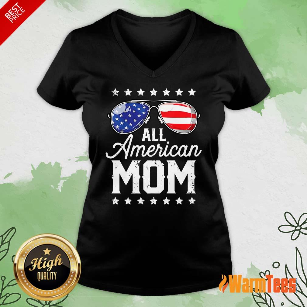 All American Mom V-neck