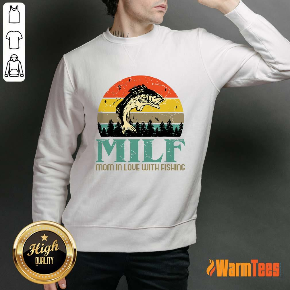 Milf Mom In Love With Fishing Vintage Sweater