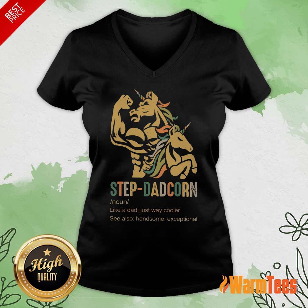 Unicorn Step-dadcorn Vintage V-neck