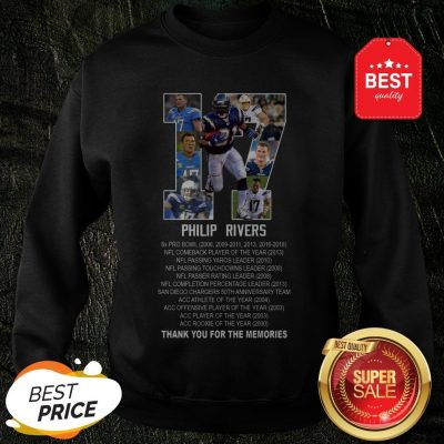 17 Philip Rivers Los Angeles Chargers Thank You For The Memories Sweatshirt