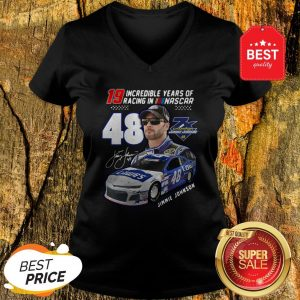 19 Incredible Years Of Racing In Nascar Jimmie Johnson 48 V-neck