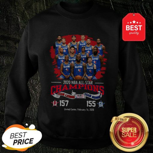 2020 NBA All-Star Champions Team Lebron 157 Team Giannis 155 Sweatshirt