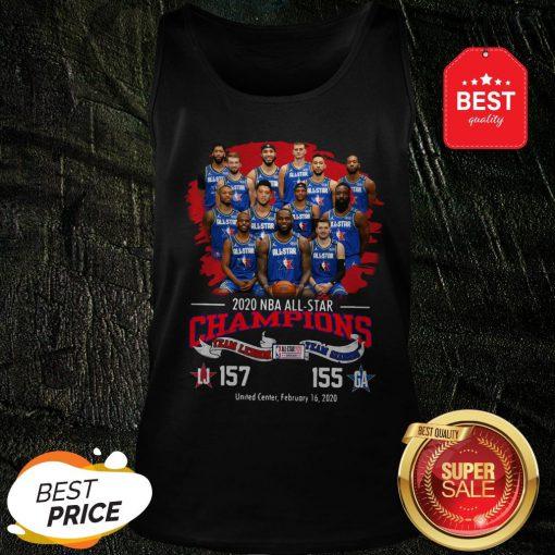 2020 NBA All-Star Champions Team Lebron 157 Team Giannis 155 Tank Top