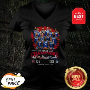 2020 NBA All-Star Champions Team Lebron 157 Team Giannis 155 V-neck
