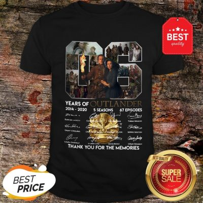 Nice 06 Years Of Outlander 2014 2020 Signature Thank You For Memories Shirt