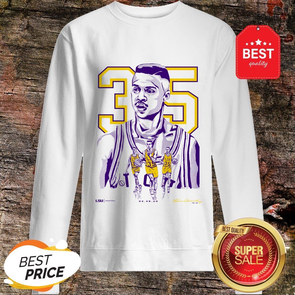 Nice 35 Mahmoud Abdul-Rauf LSU Tigers Sweatshirt