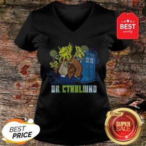 Nice Dr Cthulhu Who V-neck