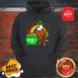 American Bald Eagle Leprechaun Funny St Patricks Day Hoodie