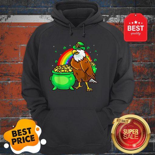 American Bald Eagle Leprechaun Funny St Patricks Day Hoodie