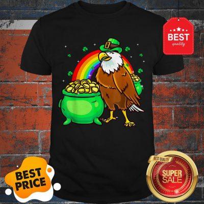 American Bald Eagle Leprechaun Funny St Patricks Day Shirt
