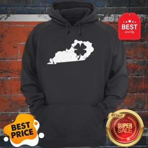 American Irish Kentucky Map Shamrock St Patricks Day Hoodie