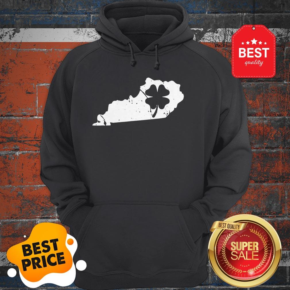 American Irish Kentucky Map Shamrock St Patricks Day Hoodie
