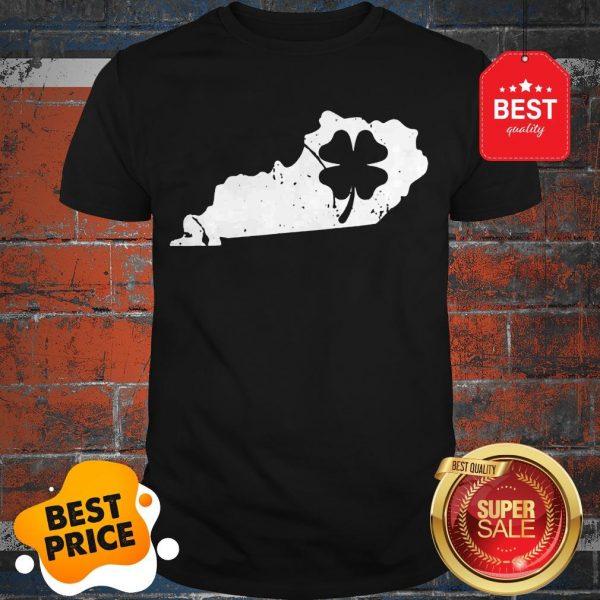 American Irish Kentucky Map Shamrock St Patricks Day Shirt