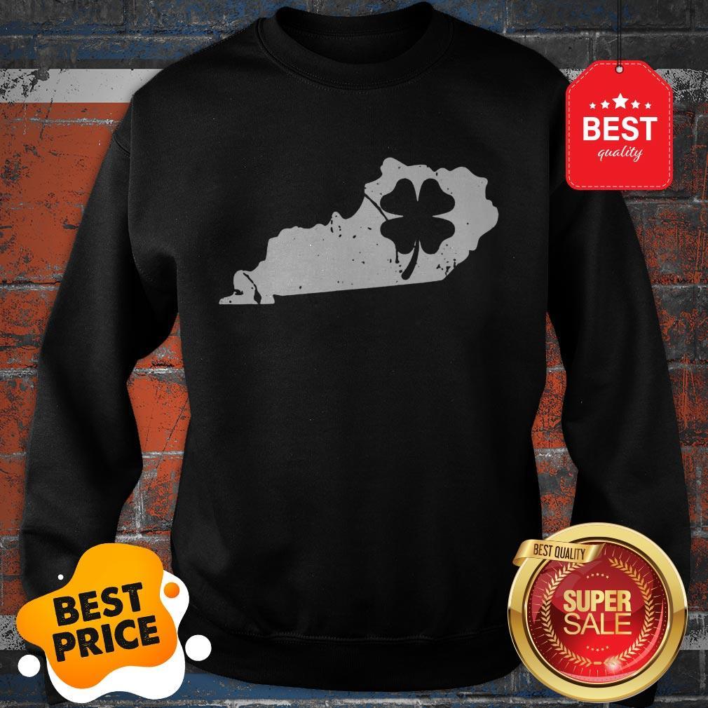 American Irish Kentucky Map Shamrock St Patricks Day Sweatshirt