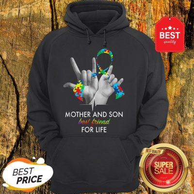 Autism Awareness Mother And Son Best Friends For Life Hoodie